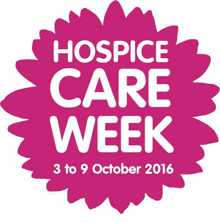 Dark pink hospice care week 2016 stamp for use online