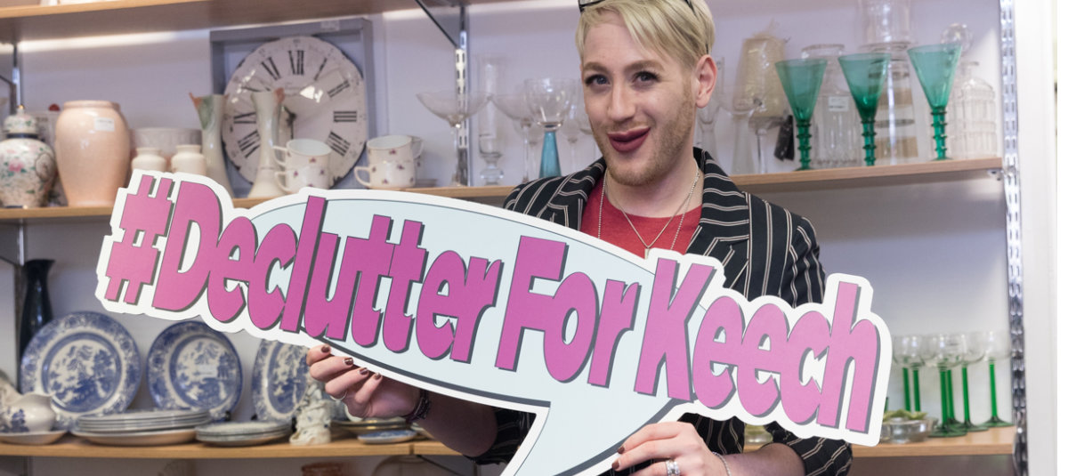 Celebrity stylist and make-up artist Lewis-Duncan Weedon is supporting #DeclutterForKeech