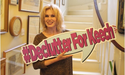 Joanna lumley backs  declutterforkeech listing