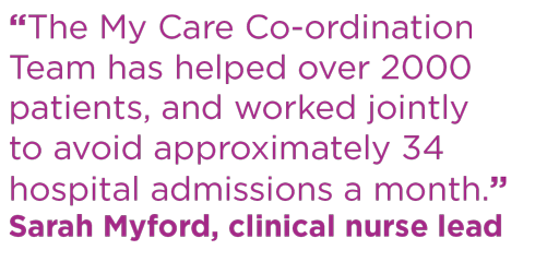 My Care Co-ordination quote Sarah Myford