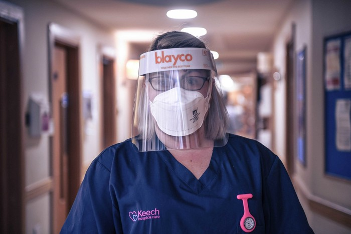 Image 1 keech hospice care nurse in full ppe detail